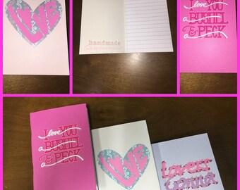 Valentine's Day Mini Notebook set