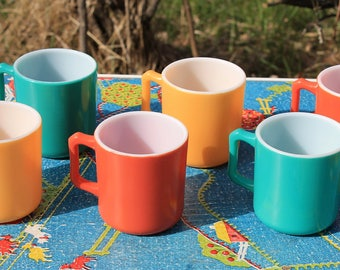 Gorgeous Colorful Kiddie Ware Demitasse Coffee/Tea Cups by Hazel Atlas