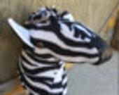 Faux Taxidermy Zebra