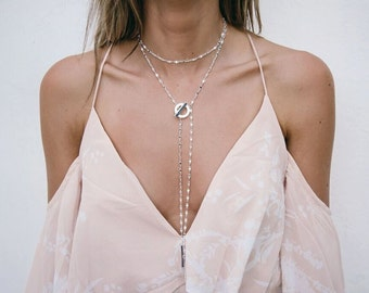 London - Silver  Double Layer Necklace