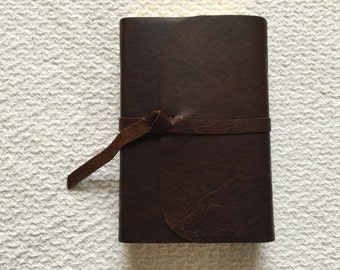 NIV Compact Giant Print Bible  Leather Cover Recovered cowhide leather flap with strap