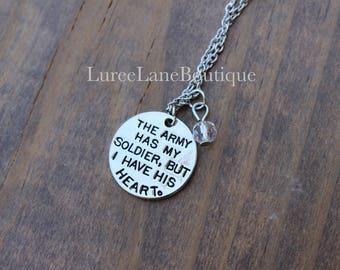 Army wife necklace/Army Pendant/Army wife charm/Army necklace/Military necklace/Soldier necklace/Soldier pendant/Army girlfriend necklace