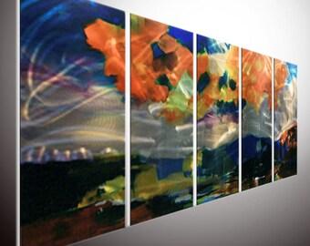 metal painting wall art. metal wall art. indoor outdoor decor modern wall art decor art original art Painting Oil Painting Wall