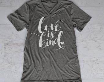 Love is Kind Tee - Gray