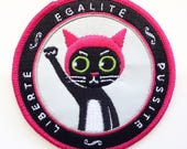 PUSSYHAT PUSSYCAT PATCH - Iron-on Embroidered Patch