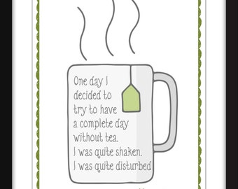 """Morrissey """"Day Without Tea"""" Quote - A3/A4/A5  11""""x14"""" / 8""""x10"""" / 5""""x7"""" Print"""