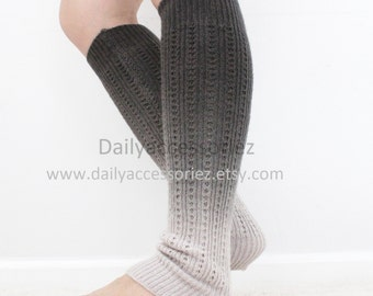 Spring sale Ombre color womens leg warmers, long leg warmers, boot socks adult, for girls, for women, for mom, for girlfriend