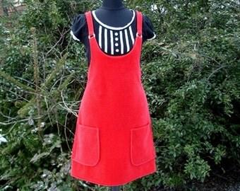 Retro dress skirt Sarafan BETTY Nicky red pinafore dress red fabric nicki