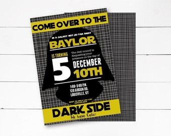 Star Wars Birthday Invitation, Star Wars Party, Star Wars Invitation, Darth Vader Invitation, Star Wards, DIY or Printed Invitation