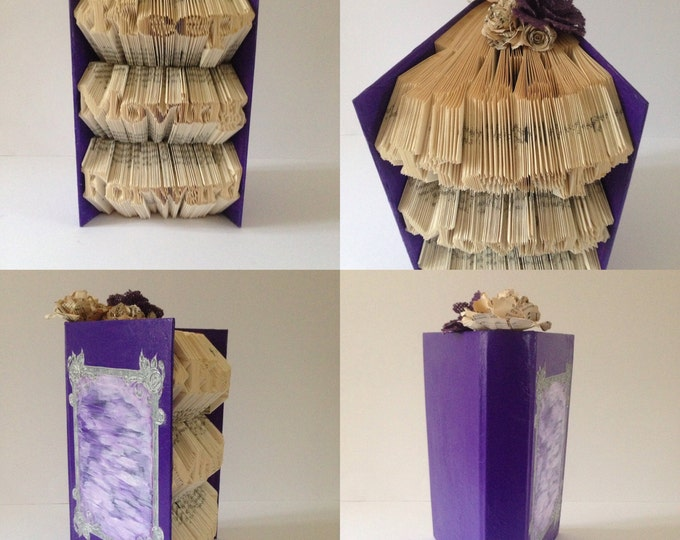 KEEP MOVING FORWARD -Book folding art, Wedding, Gift, Special Occasion, Made to order