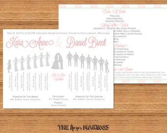 Bridal Party Silhouette Wedding Programs