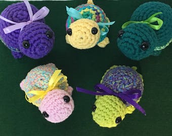 Hand Crochet Turtles