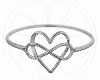 Infinity Ring, Heart Ring, Infinity Jewelry, Ring, Sterling Silver, Infinty, Jewelry, Jewellery, Simple Ring, Disco Lemonade, Infinity Knot,