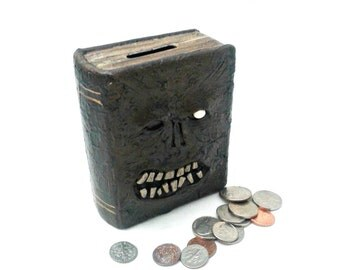 Evil Dead Necronomicon Bank, Book of the Dead Bank with glow in the dark eye