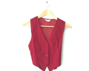 Vintage Xsmall fitted Corduroy Vest