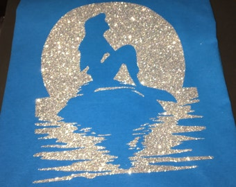 Little Mermaid Shirt, Under the Sea shirt Ariel Shirt Ariel Mermaid Shirts Little Mermaid Glitter Mermaid Ariel shirt