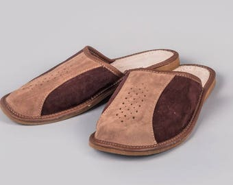 Mens Leather Slippers #11