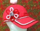 Red Santa Elf Baseball Ca...