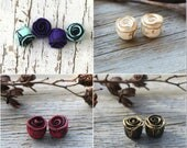 Custom Rustic Roses - polymer clay rose beads, hand sculpted rose pairs