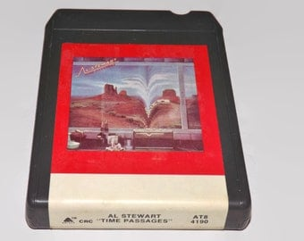 Vintage 8 Track Tape, Al Stewart - The Passages, 1978, Eight Track, Music, Timeless Skies, Almost Lucy, Life In Dark Water