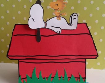 Charlie Brown, Snoopy pop-up onvitations. Snoopy birthday, Snoopy party, set of 10