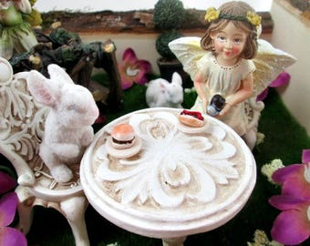 Fairy Garden, Arts and Collectibles, Toys and Games, Miniature Food, Hot Dog and Hamburger for Fairies, Marys Remedies, Mini food