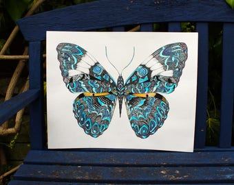 Geometric Butterfly Limited Edition Giclee Art Print