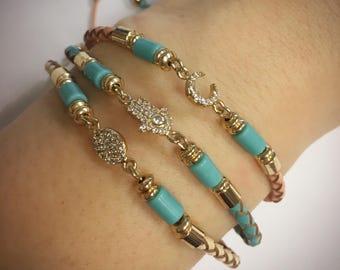 Dainty accent adjustable bracelet