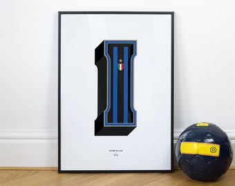 I is for Inter Milan, Football Typography Print