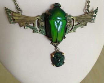 "1925's ""scarab"" necklace."