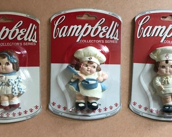 Three Campbell's Soup Collector's Series Magnets, 1990s, near mint!
