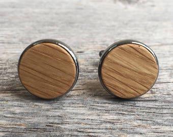Whiskey Barrel Cufflinks - Handmade Wooden Cuff Links - Men's Gifts - Wood Cufflink Set - Handmade Cufflinks - Wood Cufflinks for Him