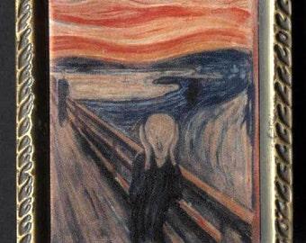The Scream, Edvard Munch, German Expressionist, vintage magnet, art magnet