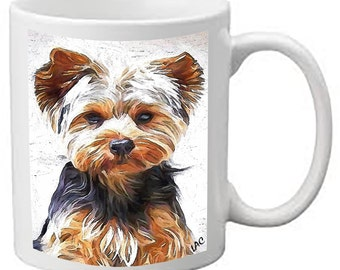 Yorkshire Terrier 'Lupis'  Ceramic Coffee/Latte Mugs  by DoggyLips  - 2 Sizes