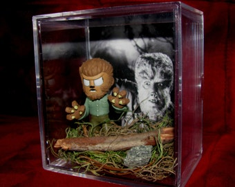 The (original) Wolfman Display..Ready to Ship Out now..Cool Gift..Brand New..