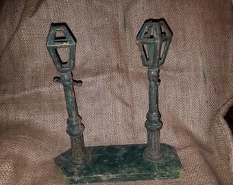 Vintage Cast Iron Lamp Posts