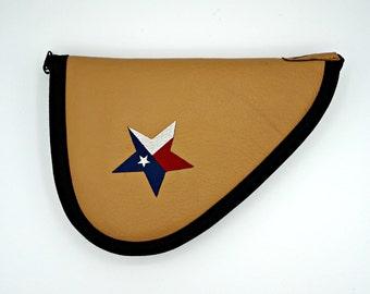 Texas Star Cognac Leather Handgun Case