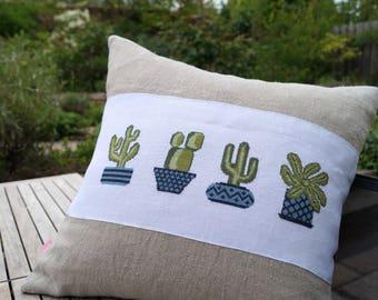 Cushion Cactus cross stitch