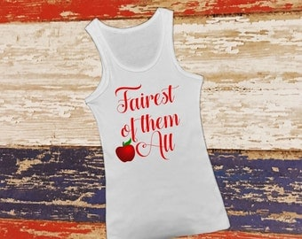 Fairest of them all snow white princess aurora tees