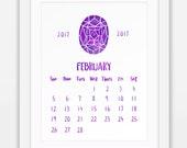 February 2017 Printable C...