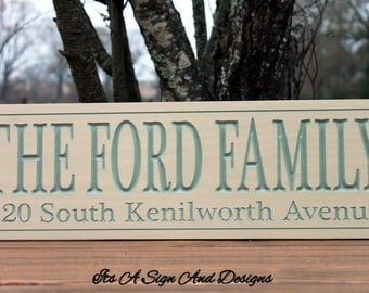 House Number Plaque-New Home Housewarming Gift-House Number Sign-Custom Outdoor Name Sign-Engraved Wood Sign-Address Sign-Address Plaque