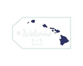 Custom wedding tags for wedding welcome bags, welcome gift tags, tags for welcome packages, custom tags for wedding snacks