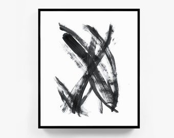 Black and White Wall Art, Abstract Art, Black and White Abstract Print, Minimalist Print, Minimalist Art, Wall Print, Abstract Prints, Frame