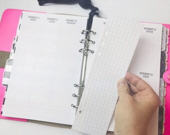 Printed Half Letter Size Grid SIDEBARS