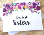 Pregnancy Announcement Card - Pregnancy Reveal to Sister Card - New Aunt Auntie Announcement - We Are Having a Baby Card - I'm Pregnant Card