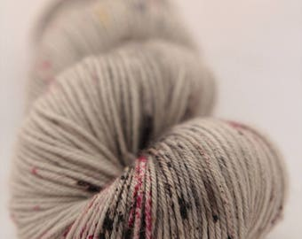Hand-dyed yarn - sock yarn - superwash - merino - dyed-to-order - speckles - ROCHER