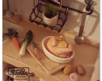 Fresh chicken to bake 1/12 scale