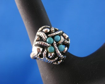 Vintage Sierra Faux Turquoise Ring by Avon