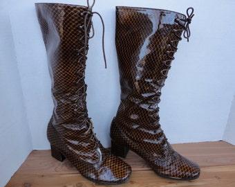 Vintage Lace Front Boots
