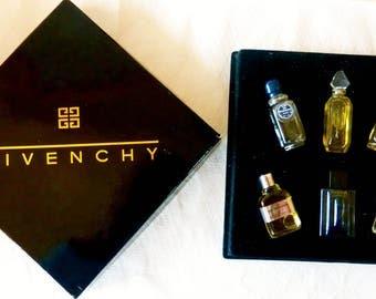 Unused Vintage boxed set of Six  Givenchy Perfumes